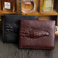 2017 Crocodile Wallet men genuine leather men wallets Coin purse short male clutch leather wallet mens money bag High quality