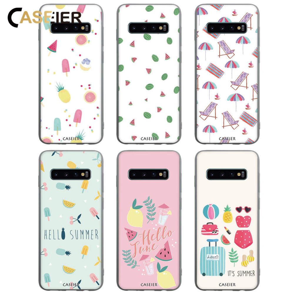 CASEIER Lovely Case For Samsung Note 8 9 S8 S9 S10 Plus S10E Fashion Phone Case For Samsung A7 A5 A6 A8 Back Cover Funda Capinha-in Half-wrapped Cases from Cellphones & Telecommunications