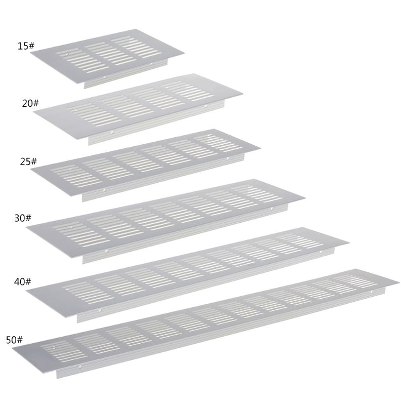 1pcs Hot-selling Aluminum Alloy Air Vent Perforated Sheet Web Plate Ventilation Grille 6 Sizes
