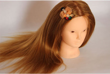 Mannequin Head Hair Synthetic Hairdressing Doll Heads Cosmetology Women Hairdresser Manikin