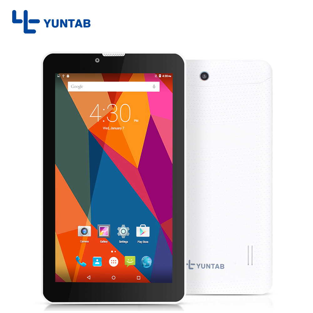 YUNTAB 7 inch E706 Tablet PC Dual Camera Quad Core  WiFi/Bluetooth Android 5.1 IPS screen 1024*600 with2800mAh battery 7 8 10 yuntab 3g tablet pc k17 quad core android 5 1 touch screen unlocked smartphone with dual camera 0 3mp 2mp 5000mha battery