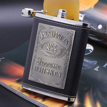 Outdoor portable portable flagon 304 stainless steel hip flask  8 ounces Russia wine flagon