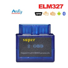 Blue Small ELM327 Bluetooth OBD2 / OBDII ELM 327 Auto Diagnostic Scanner Tool