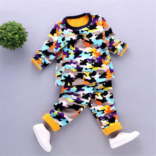 2-5 T niños ropa interior para niños de invierno térmica madre y niños niñas sistema de la ropa caliente calzoncillos largos niña niño otoño Bebés Valor FC-1
