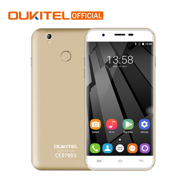 Oukitel U7 Plus 5.5 Inch HD Screen Smartphone 2GB RAM+16GB ROM Cell Phone MT6737 Quad-Core Android 6.0 Mobile Phone