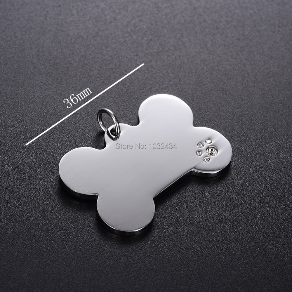 50pcs lot Personalized customization Pet Dog Tags Custom Cat ID Name Tags for Pets Personalized Bone