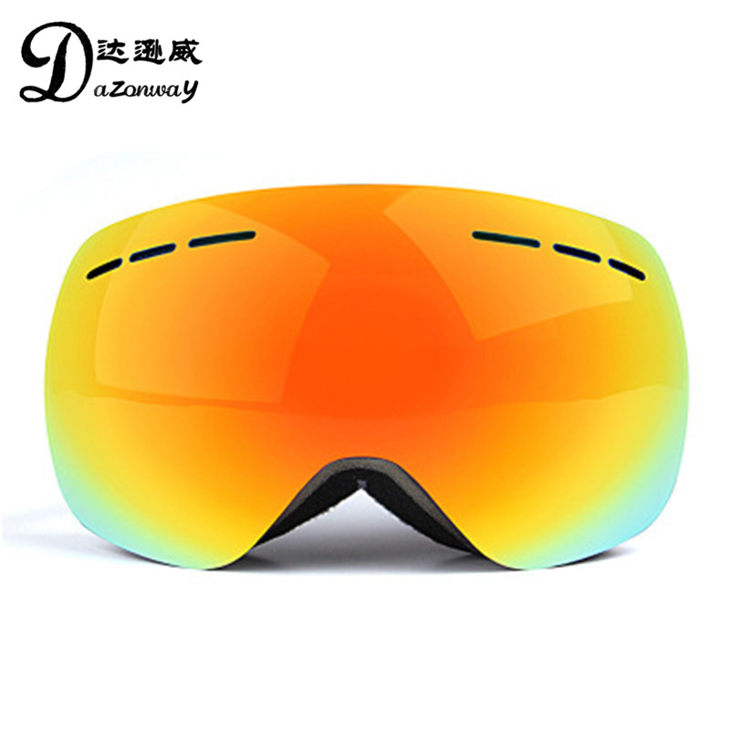 Winter Riding Protective Goggles High Quality Panoramic Double Anti-fog Skiing Glasses Anti-UV Anti-snow Blindness Ski Goggles
