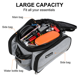 Image 5 - WEST BIKING Waterproof Bike Seat Pannier Pack Luggage Cycling Bag 10 25L Bicycle Pannier Bag Rear Rack Trunk Bag With Rain Cover