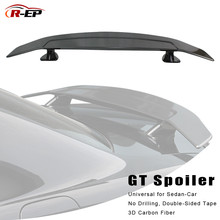 R-EP Tuning Car Spoiler Universal for Sedan Rear 3D Carbon Fiber Hatchback Auto Trunk Wing fits BMW
