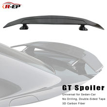 R-EP Tuning Auto Spoiler Universal Voor Sedan Achter Auto 3D Carbon Fiber Rear Hatchback Auto Kofferbak Wing Past Voor Bmw(China)