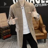 Zeeshant Men Sweaters Long Sleeve Casual Cardigan Thick Sweater Knitting Sweater Outerwear Coat Winter For Man