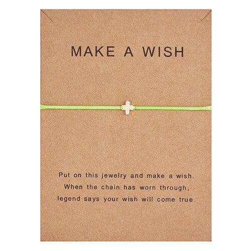 Регулируемый браслет с бумажными карточками в форме бабочки, звезды, короны, Круглый тканый браслет ручной работы, Простые Модные женские ювелирные изделия, подарки - Окраска металла: 15