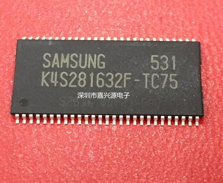 10 unids/lote K4S281632F-TC75 K4S281632F