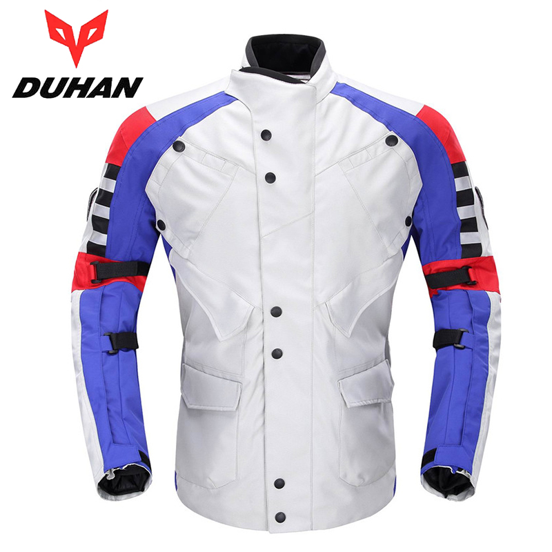 DUHAN Motorcycle Jacket Windproof Waterproof Riding Clothing Jaqueta Motorcycle Touring Moto Jacket with Cotton Liner D-115