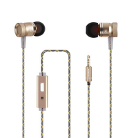 3.5mm Jack Wired In-Ear Earphone with Microphone for Mobile Phones Stereo Bass Earbuds Earphones