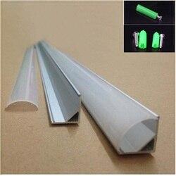 20-80 m, 10-40 Uds. Perfil de aluminio de 2 metros, Perfil de aluminio led de esquina de 45 grados para tablero de PCB de 10mm, barra de luz led semiredonda