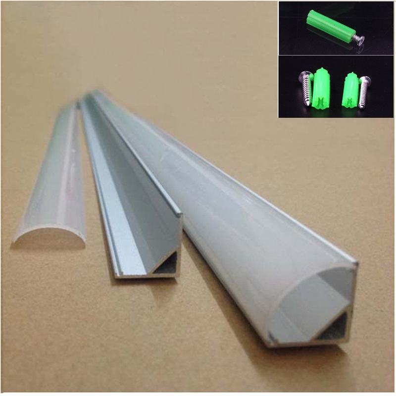 20-80m ,10-40pcs 2meters  Aluminium Profile,45degree Corner Led Aluminium Profile For 10mm PCB Board ,semi Round  Led Bar Light