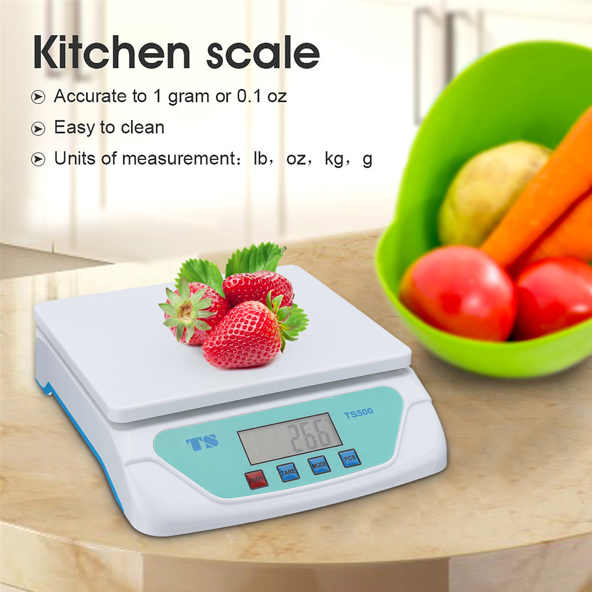 30kg LCD Displ electronic scales Weighing Kitchen Scales Grams Balance universal for Home kitchen 30kg Electronic Balance Weig image