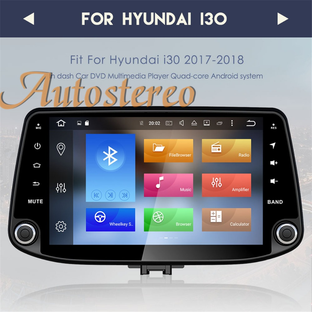 The newest Android8 0 Car DVD player GPS Navigation For Hyundai I30 2017 2018 Satnav multimedia