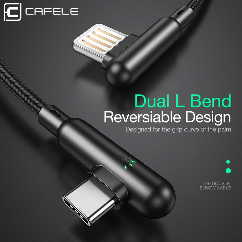 Cafele USB סוג C כבל עבור Huawei p20 30 פרו 90 תואר USB C נייד טלפון כבל 3A מהיר טעינה לxiaomi 9 Redmi הערה 7 כבל