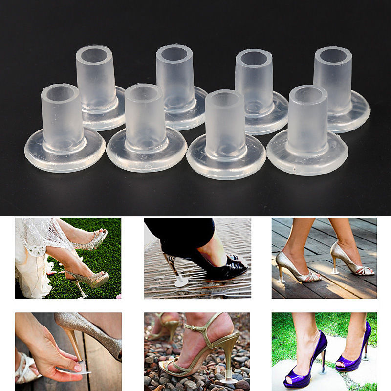 25 Pairs / Lot Heel Stopper High Heeler Antislip Silicone Heel Protectors Stiletto Dancing Covers For Bridal Wedding Party Favor 20 pair newest high heel protectors high heeler stiletto shoe heel saver antislip silicone heel stopper for bridal wedding party