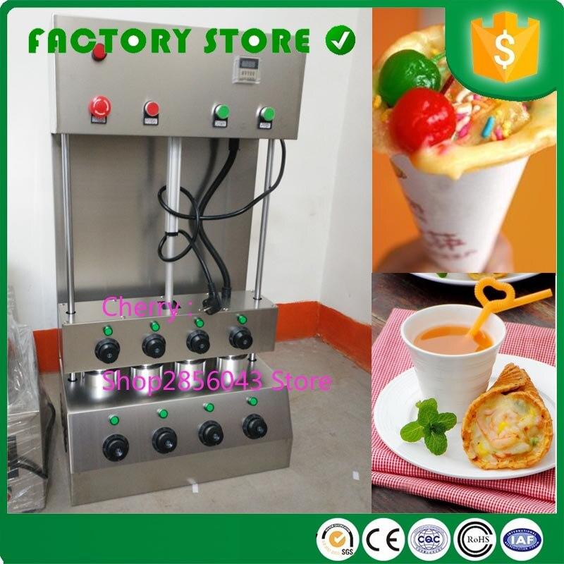 10% desconto automático de aço inoxidável 2/3/4 moldes elétrica comercial pizza forno pizza cone que faz a máquina