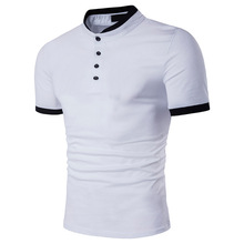 ZOGAA 9 color polo shirt Business Casual Polyester Short men fashion Solid Slim mens brands plus size S-3L