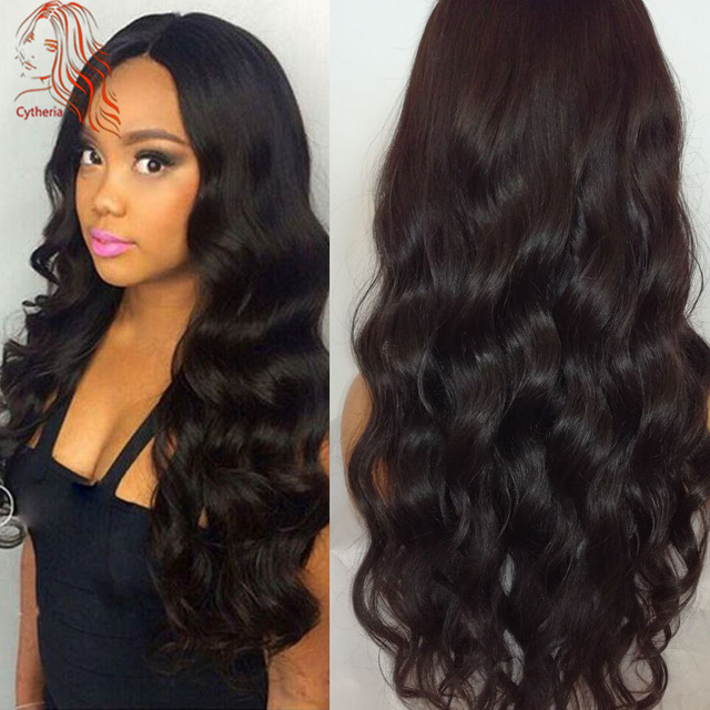 Full Lace Human Hair Wigs For Black Women Body Wave Lace Front Wigs With Baby Hair 8A Virgin Brazilian Human Hair Full Lace Wig