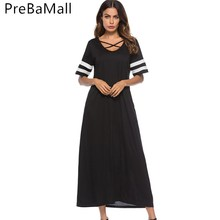 Plus Size Muslim Women Dress 2019 Summer Short Sleeve Abaya Arabic Middle East Ramadan Arab Islamic Clothing C250