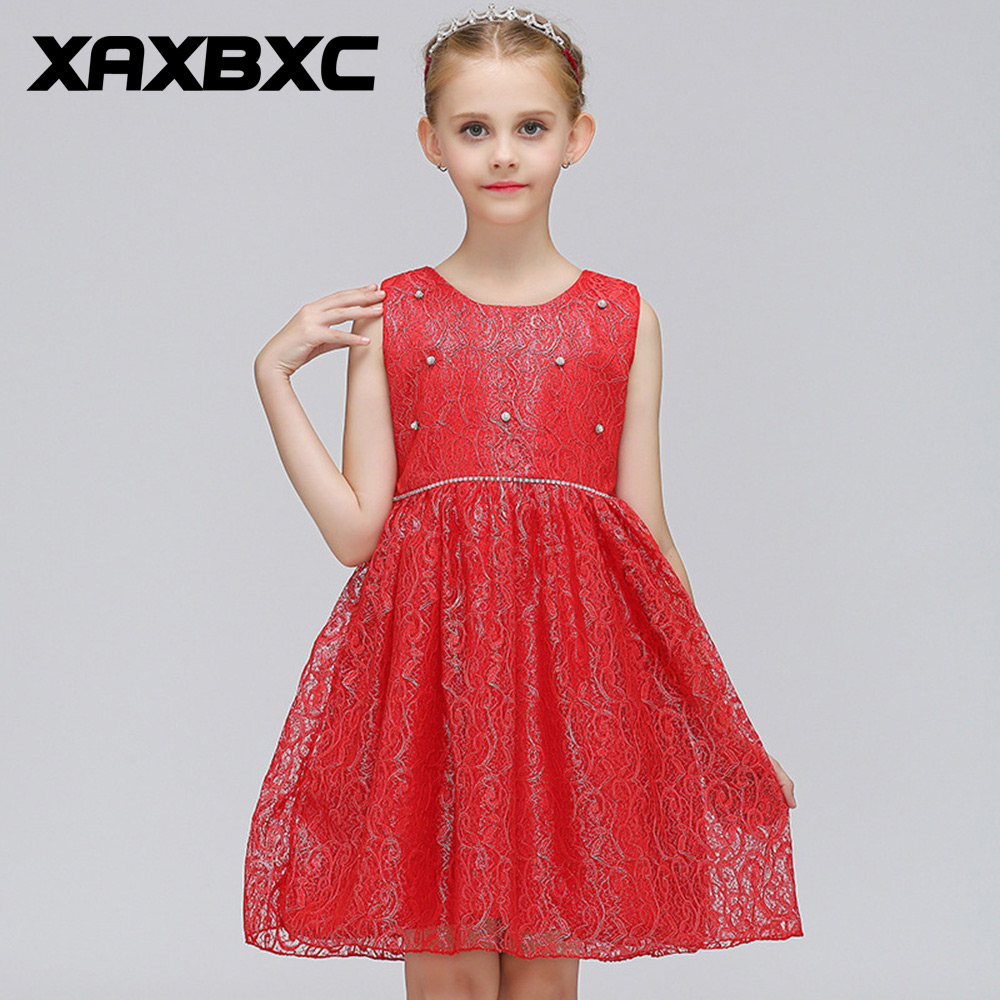 Lace Embroidered Princess Dresses Kids Prom Gown Evening Dresss Wedding Party Dress Girls Clothes Tulle Children's Costume L9061 teenage girl party dress children 2016 summer flower lace princess dress junior girls celebration prom gown dresses kids clothes