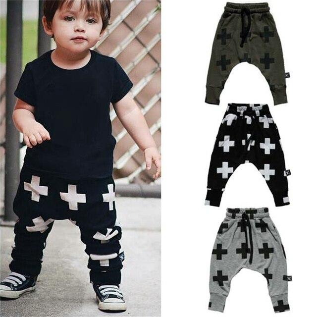 36dd1e781fc1 Baby Boy Children Harem Pants Kids Trousers Cross Print For Girls ...
