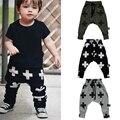 Baby Boy Crianças Harem Pants Crianças Calças Impressão Cruz Para Meninas Menino Calças de Algodão Do Bebê Da Criança Calças Roupas