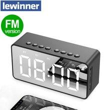 Altavoces inalámbricos portátiles columna de altavoz Bluetooth Subwoofer estéreo de graves con tarjeta TF manos libres y reproductor de MP3 AUX, despertador