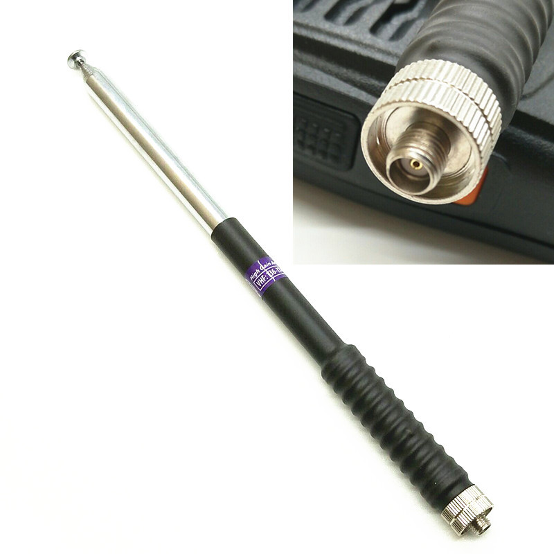 FP10120 Telescopic Antenna SMA-F VHF 136-174MHz For Kenwood BAOFENG UV-5R BF-888S Two Way Radio