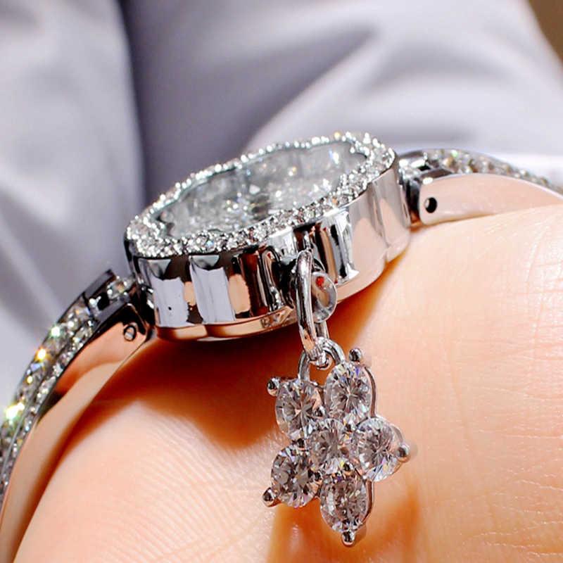 קריסטלים אוסטריים mashali שעונים לנשים מותג ליידי הניצוץ יהלומי סטון שעונים שעון תכשיטי צמיד בנות צפו ארוחת ערב
