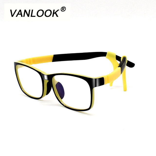 Silicone Kid Computer Glasses for Children Anti Blue Ray Transparent ...