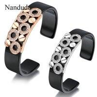 Nandudu יד קאף צמיד צמיד שרף פלסטיק מעטרים גביש מתנת תכשיטי אופנה החדשה נקבה נשים B25 B29