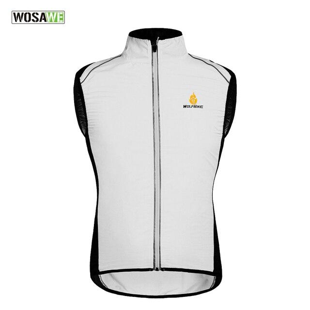 80686be81 WOLFBIKE Men Women Cycling Sportswear Men Jerseys Clothing Windcoat  Breathable Reflective Bike Jacket Sleeveless Vest Gilet