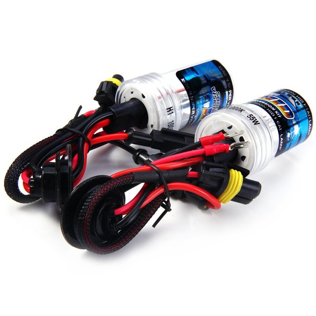 New H1 55W 12V Super Bright High Output Easy to Use Low Power Consumption 10000K 4000lm HID Xenon Lamp Car Headlamp ( 2pcs )
