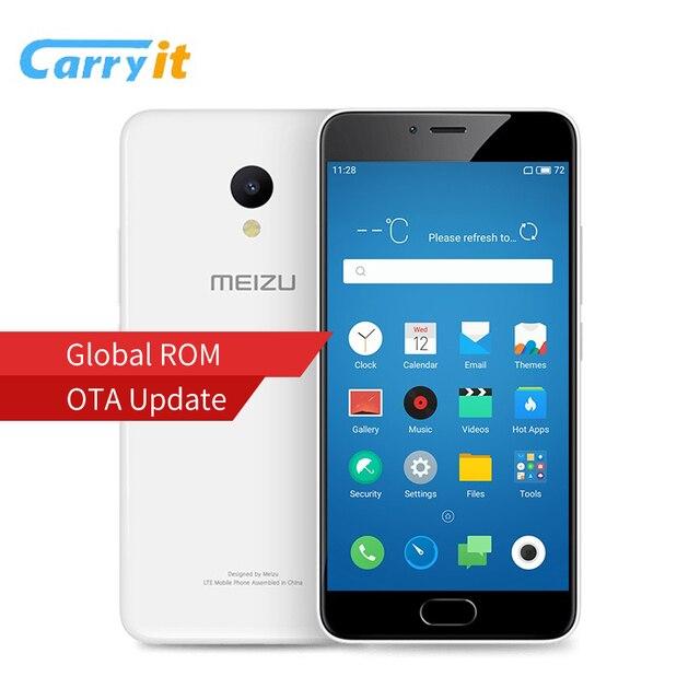 Оригинальный Meizu M5 16GB 2GB Global ROM OTA Мобильный телефон MTK MT6750 окта Ядро 5,2 «1280 х 720 13.0MP Сотовый отпечатков пальцев