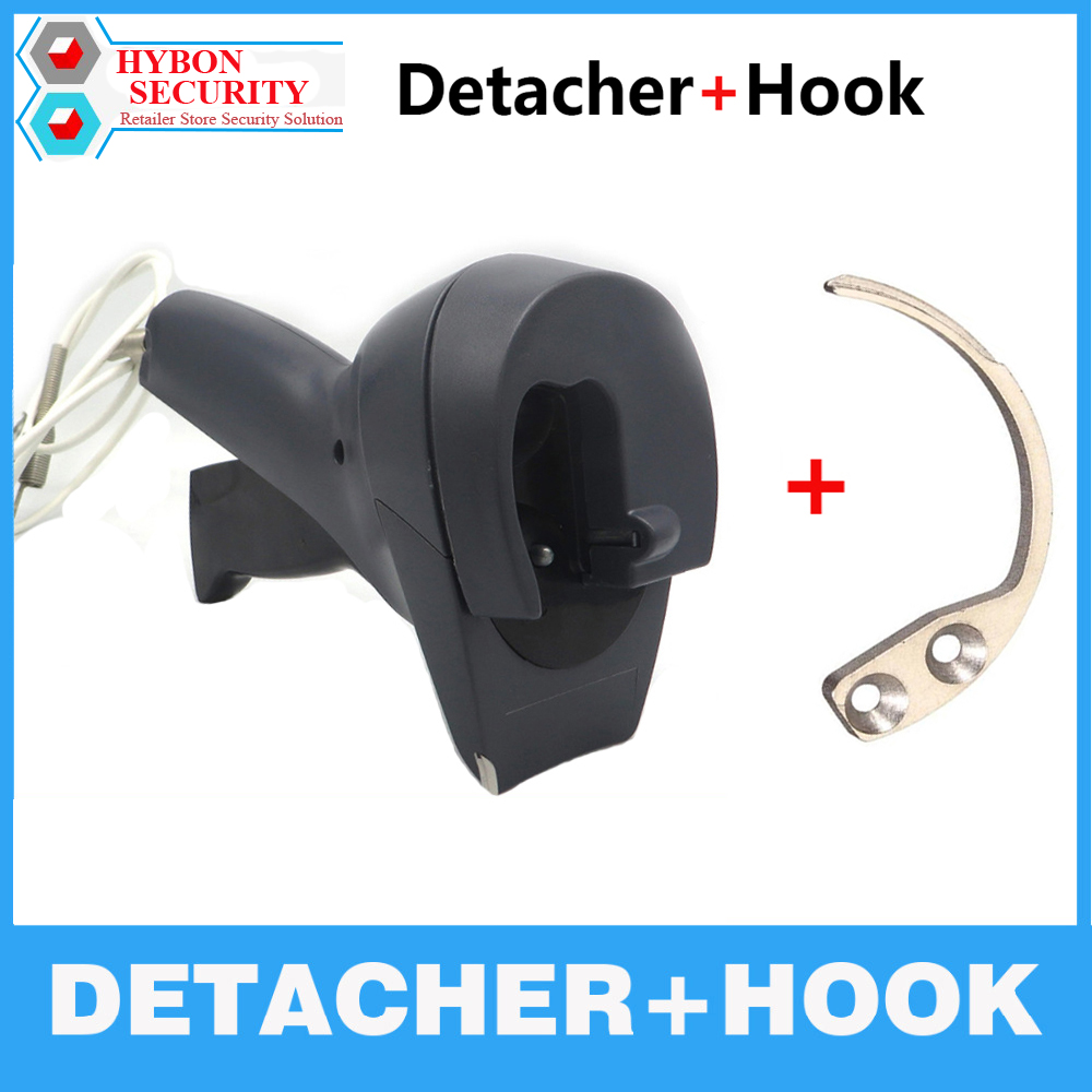 HYBON 1Pcs EAS Handheld Key Detacher Hook EAS Tag Remover +1Pcs Gun Detacher AM EAS Magnetic Security Tag Remover Tag Lockpick new arrival guitar effects booster guitar effect pedal aluminum alloy housing ture bypass aroma abr 1
