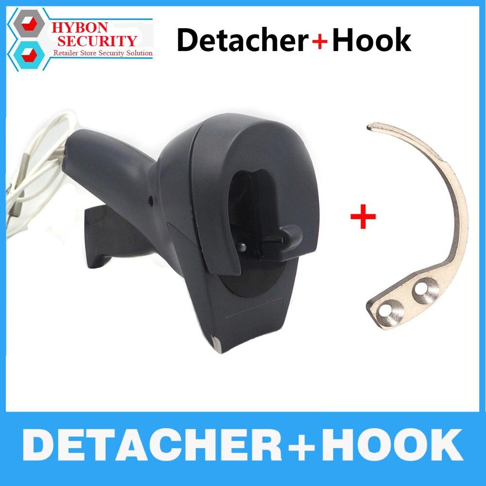 HYBON 1Pcs Security Tag Detacher Handheld Hook Key Remover +1Pcs Gun Detacher AM EAS Magnetic Security Tag Remover Tag Lockpick