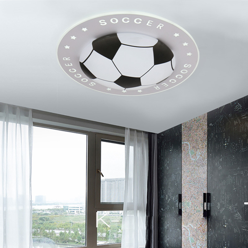 New soccer childrens lamp LED ceiling lamp modern bedroom lamp simple fashionable circular lampsNew soccer childrens lamp LED ceiling lamp modern bedroom lamp simple fashionable circular lamps