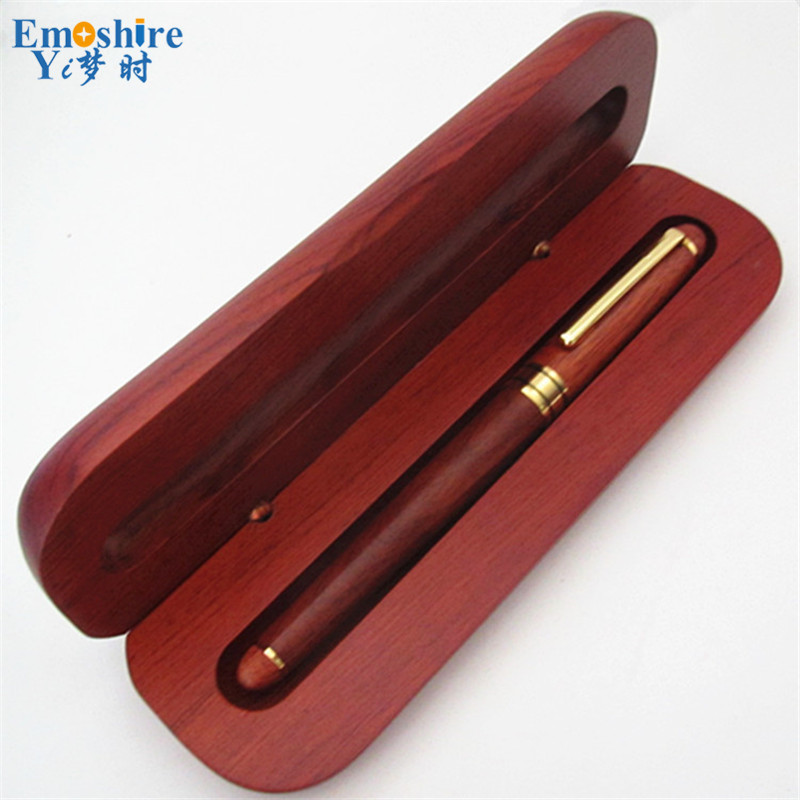 Emoshire Top Grade Business Gifts For Man Best Roller Ball Pen Wood Ball Point Pen with Wood Pencil Case School Stationery P033 pilot dr grip pure white retractable ball point pen