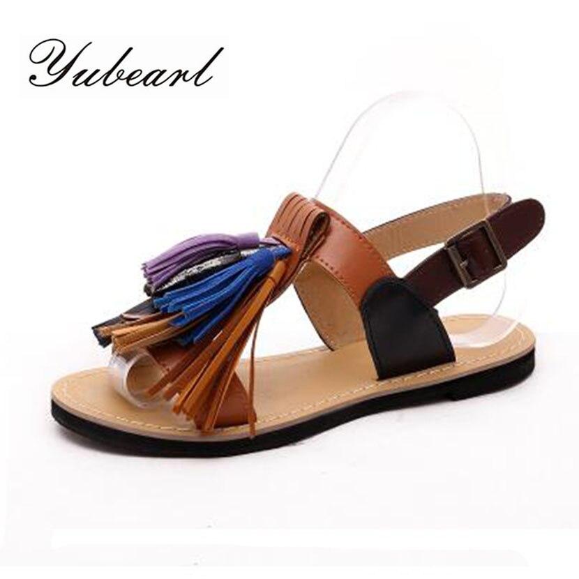 웃 유2017 New Summer Women Flats ≧ Sandals Sandals Casual