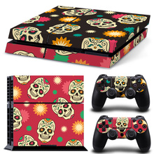 New Skull Vinly PS4 Skin Sticker For Sony PlayStation 4 And 2 Controller Skins PS4 Accessories Stickers