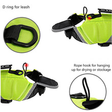 Dog Life Jacket Vest with Extra Padding for Dogs Reflecting Pets Dogs Swimming Clothes Waterproof Waistcoat Nylon Polyester