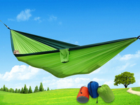 F 24 Colors Ultralight Outdoor Camping Hammocks Hunting 2 Person Flyknit Garden Hammock Foldable Hanging Bed