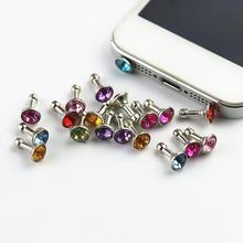 65392a26fc2295 Diament wtyczka akcesoria paczka telefon dla Jack 10 pcs paczka sztuczne  3.5mm słuchawki pyłu anty pakiet mobilny ogólne 5 szt