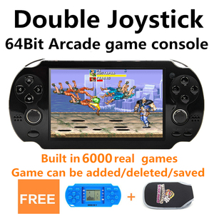 New CZT 4.3 inch 40GB 64bit Handheld Game Console build in 6000 games for CPS/NEOGEO/GBC/GB/SNES/NES/SEGA Video Game Console MP5(China)